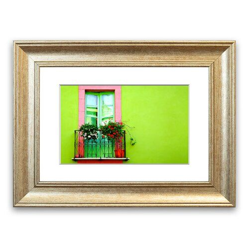 Green Wall Window Framed Photograph East Urban Home Size 40 Cm H X 50 Cm W Frame Options Silver Frame Prints Home