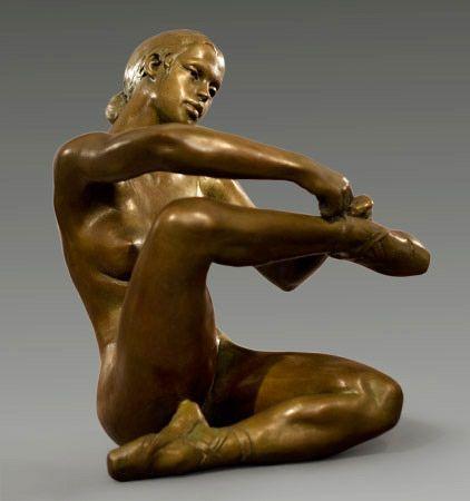 Bronze Sculpture by French Artist-Jacques Le Nantec