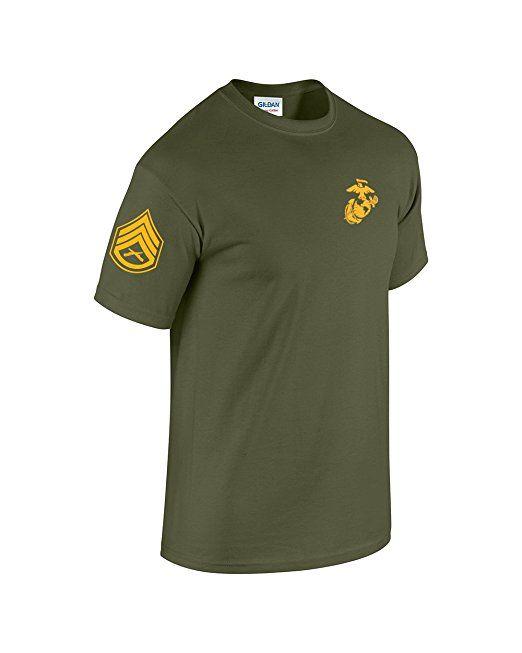 USMC Corporal of Marines T-Shirt Chevron on Sleeve