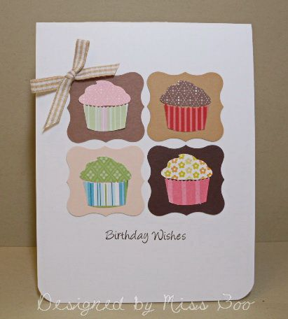 CAS252 & FS359 - Birthday Cupcakes by Miss Boo - Cards and Paper Crafts at Splitcoaststampers