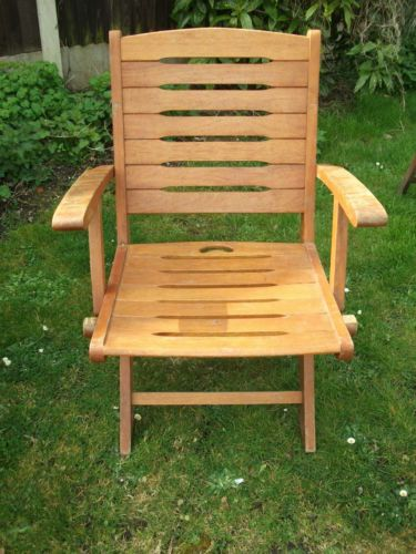 Garden Chair Hard Wood On Offer , In Good Condition,  eBay