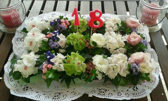 cupcakes de flor natural