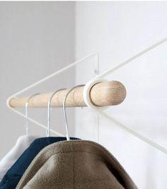 Garderobenständer für den Flur aus Holz, minimalistisches Design / wooden coatrack, minimalistic style, scandinavian design made by designID via DaWanda.com