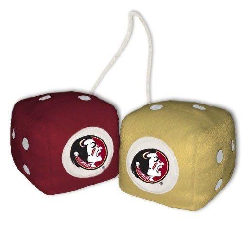 "Florida State Seminoles 3"" Fuzzy Dice #FremontDie #FloridaStateSeminoles  #GoNoles #FSU #JockUniversity"