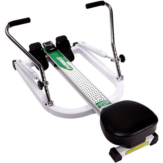 Get your body in top shape from home with this portable precision rower. This sturdy home gym machine provides a comprehensive cardiovascular workout, working all of the major muscle groups.