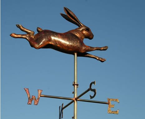 Leaping Hare Weathervane