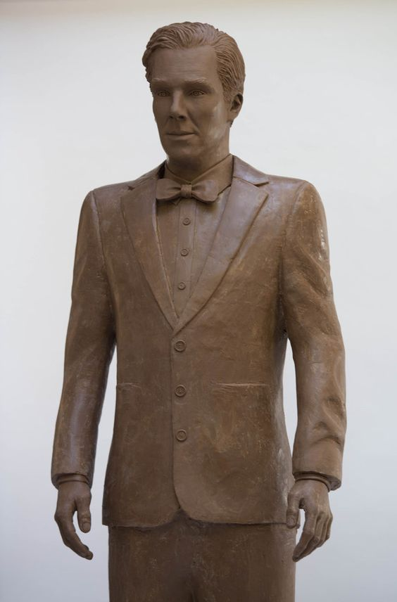 Don't get too excited or anything but someone made a true-to-life Benedict Cumberbatch out of chocolate. | Life-Size Chocolate Benedict Cumberbatch Is A Real Thing That Exists