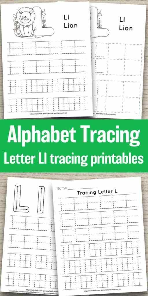 Free Printable Letter L Tracing Worksheet L Is For Lion Free Printable Alphabet Worksheets Printable Alphabet Worksheets Letter L