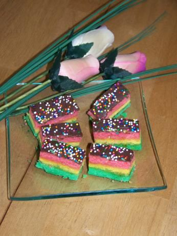 Italian Tri-Color Cookies (Rainbow Cookies) from Food.com