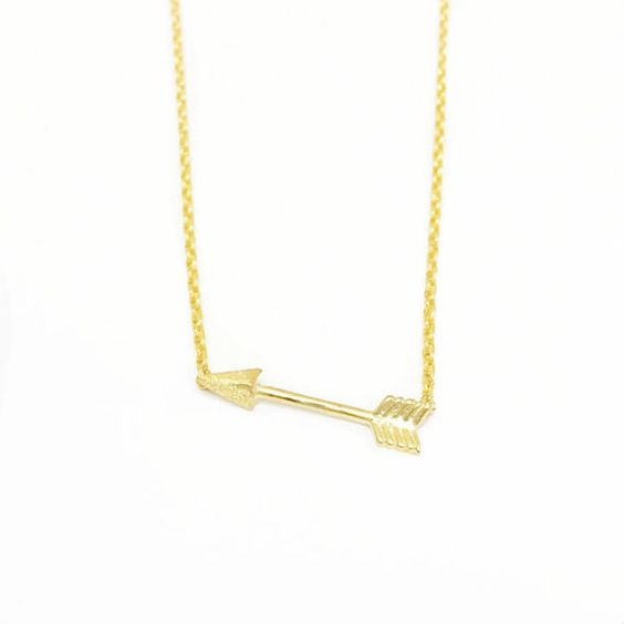 Tiny Gold or Silver Arrow Necklace