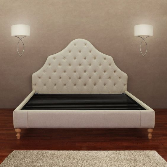 Alice Button Tufted Queen Bed Frame | Overstock.com