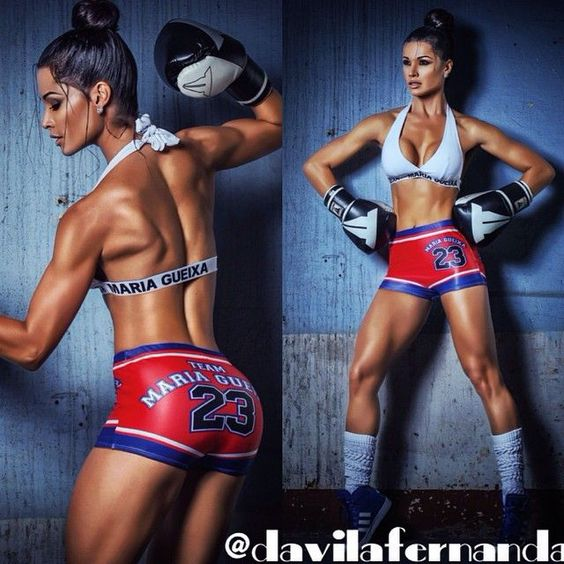 SEXY MUSCULAR KICKBOXER -  Brazilian #Fitness Model Fernanda D'Avila : if you LOVE Health, Exercise & #Fitspiration - you'll LOVE the #Motivational designs at CageCult Fashion: http://cagecult.com/mma