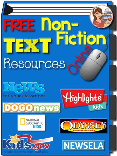 Free Non-Fiction Text Resources Online. Helpful list with descriptions.