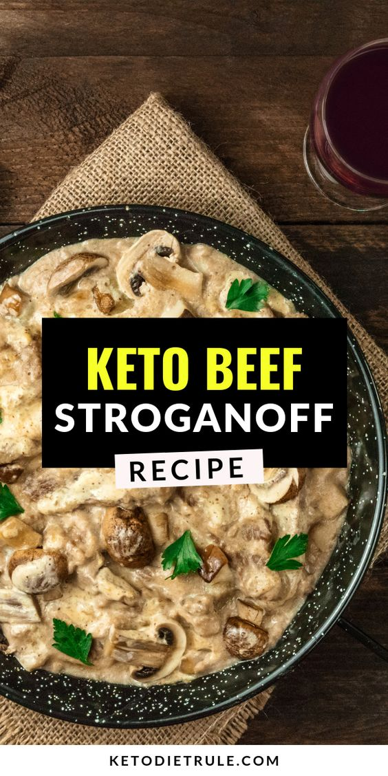 Beef Stroganoff Recipe with Sour Cream - Low-Carb Keto Meal