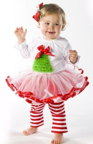 Baby Girl Christmas Holiday Tutu Dress Set