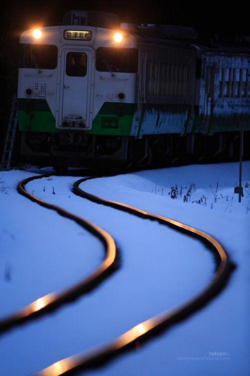 【雪  snow】 hekiqoo:  若松へ   To Wakamatsu. Japan