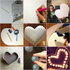 oh, sweet joy!: ((handmade monday)) DIY Heart Marquee Light