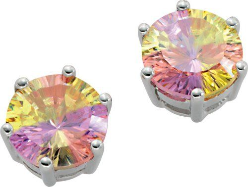 Orphelia Damen-Ohrstecker Rainbow Collection 925 Sterlingsilber Multicolor Zirkonia CC-34: Amazon.de: Schmuck