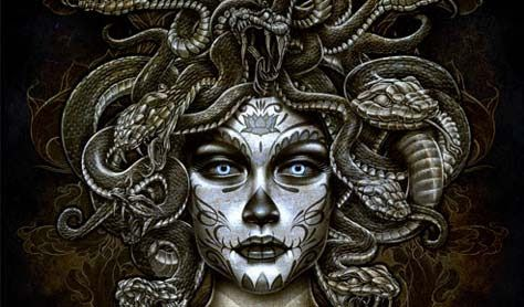 Mexican Day of the Dead Medusa