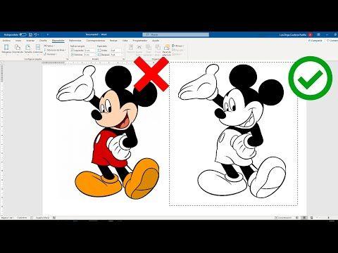 Como Quitar El Color De Una Imagen Para Colorear En Word Youtube Aplicaciones Para Aprender Informatica Y Computacion Computadora Para Colorear