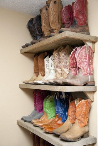 I'm working on it.: Cowboy Boots, Boot Shelf, Cowgirl Room Ideas, Dream Closet, Boot Shelves, Boot Display, Country Boots Cowgirls, Boot Storage
