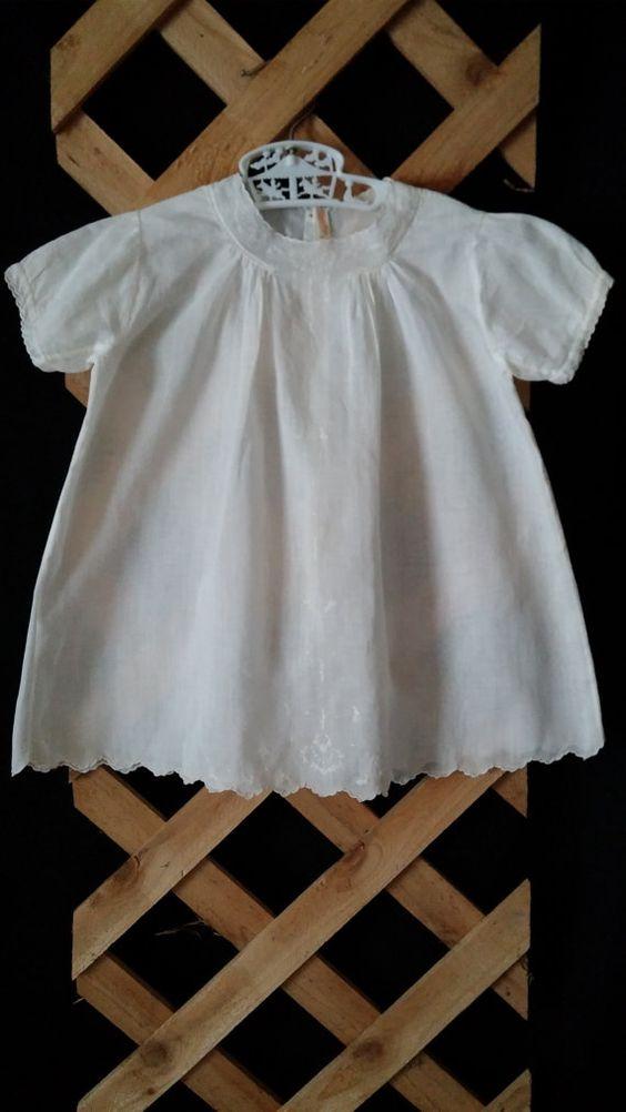 Baby Christening Baptism Dress Gown Antique by frankiesfrontdoor, $25.00