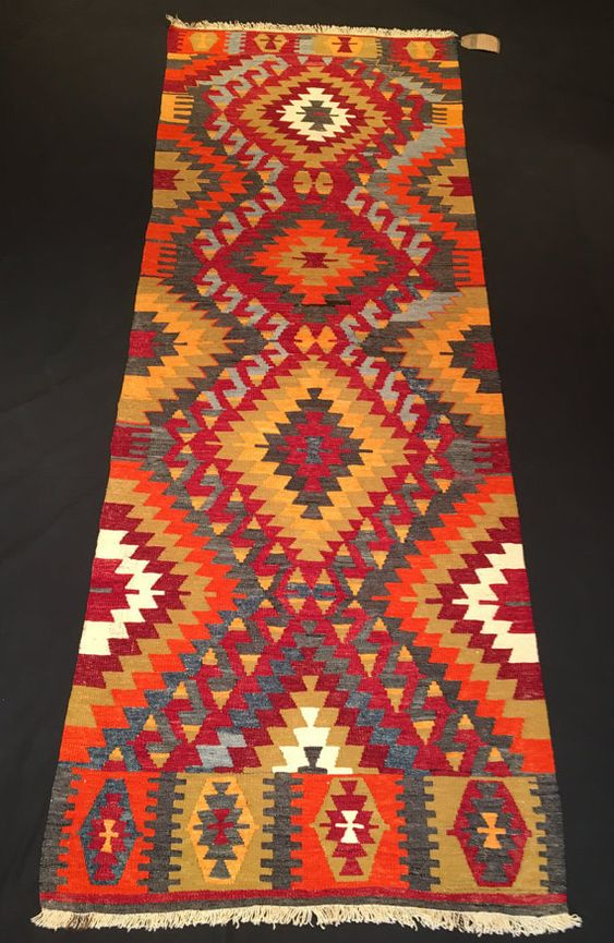 Turkish Kilim Runner Chall Anatolian From By NoahsArkRugs