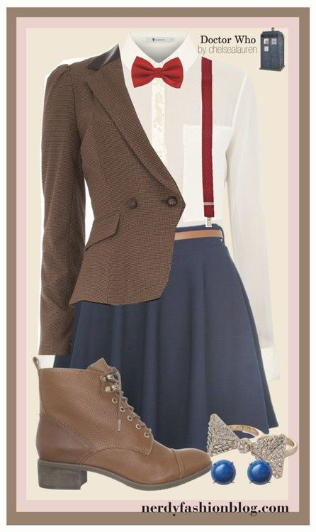 Cute. 11th doctor fashion. :D I'm wearing this next Monday to the 50th anniversary showing!!!