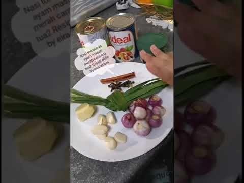 Nasi Tomato Cara Orang Tua2 Vs Ayam Masak Merah Lagend Youtube Food Receipes Malay Food Orange