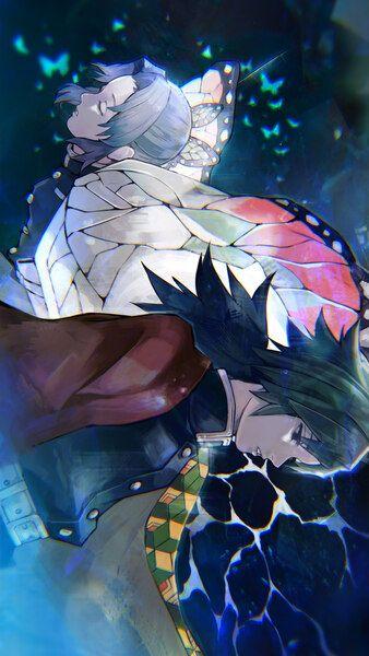 Giyu Tomioka Shinobu Kocho Kimetsu No Yaiba 4k Hd Mobile Smartphone And Pc Desktop Laptop Wallpaper 3840x2 Hd Anime Wallpapers Anime Wallpaper Slayer Anime Celular wallpaper de anime 4k