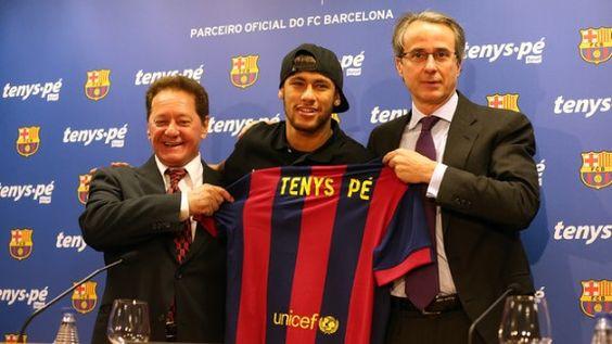 El FC Barcelona presenta su acuerdo con Baruel, auspiciado por el padre de Neymar