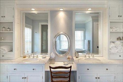 72 Bathroom Vanities With Makeup Area Bathroom Vanity W Addl Makeup Area Oa In 2021 Master Bathroom Vanity Traditional Bathroom Bathroom Remodel Master