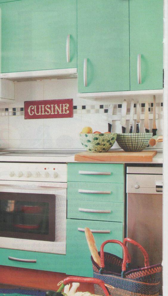 Muebles de cocina forrados con vinilo  Home  Ideas  Pinterest