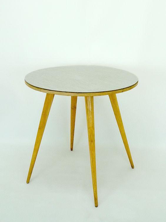Mesa comedor estilo escandinavo, sobre de formica, años 50 ...