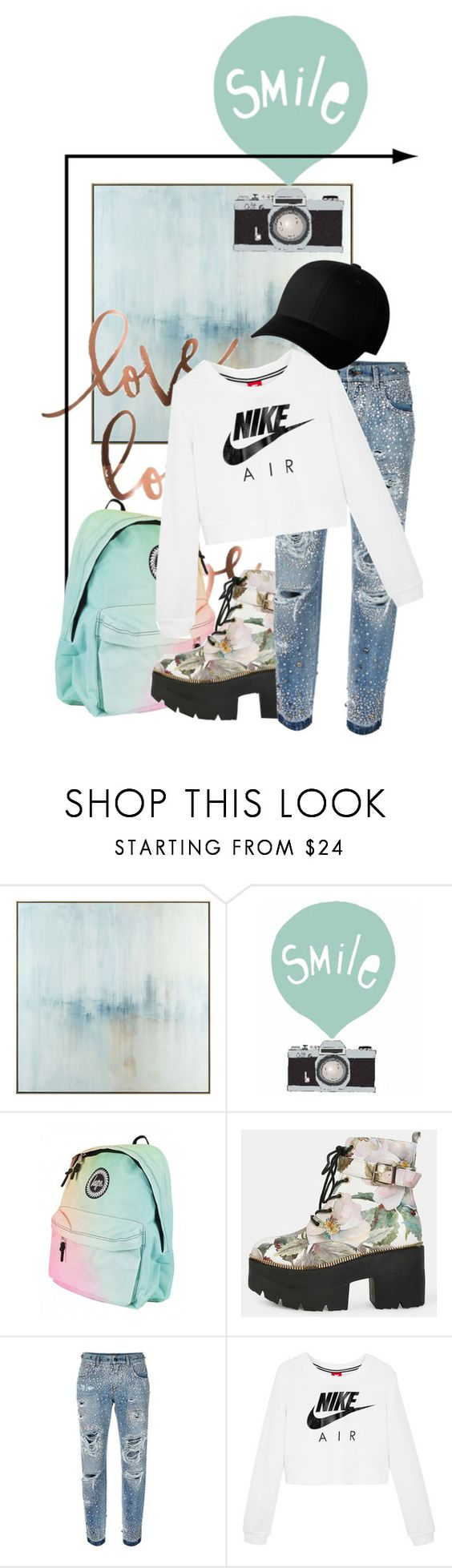 """""""mint inc"""" by rubystripes ❤ liked on Polyvore featuring John-Richard, Dolce&Gabbana, NIKE and Flexfit"""