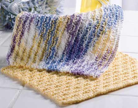 Checkered Knitting Pattern : Checkered Stripes Dishcloh free crochet pattern Crochet ...