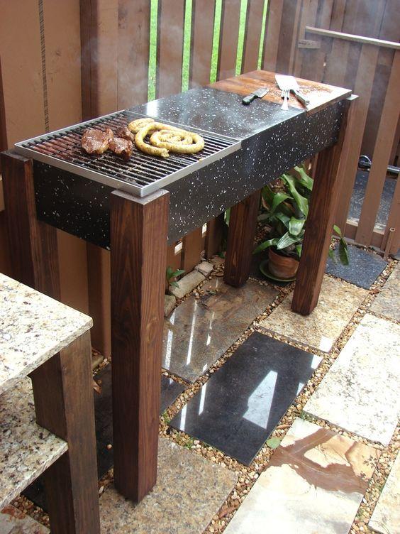 diy modern granite grill: