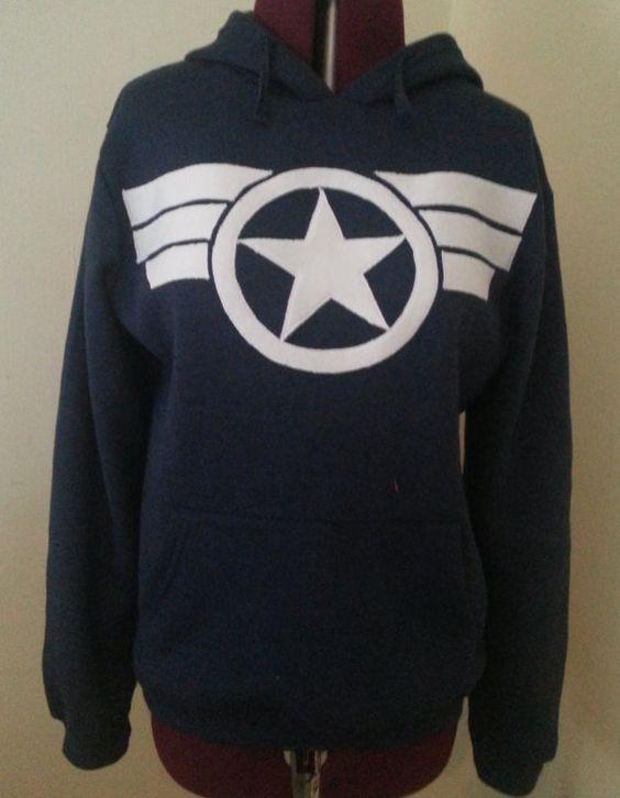Items similar to Captain America, Commander Steve Rogers Secret Avengers Hoodie Pullover on Etsy