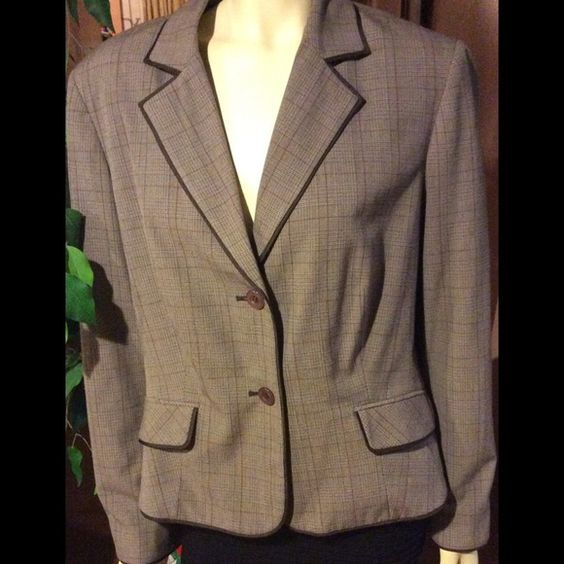 "Vintage Brown Lined Suit/Jacket . Beautifully lined suit jacket In ""EXCELLENT CONDITION""!!! No holes, No stains, Comes from a Smoke & Pet free home. 100%polyester. 34%rayon. 3%spandex. NortonMcnaughton Jackets & Coats"