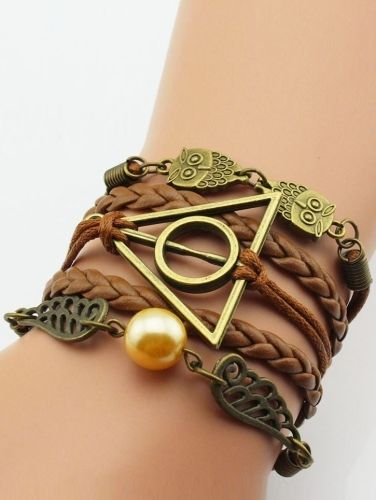 Coffee Retro Multilayer Woven Bracelet Hand Woven Multilayer Bracelet