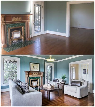 Reallife example of home staging with CORT furniture
