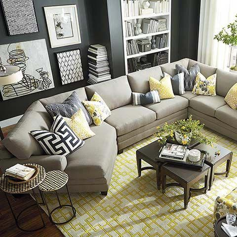 Hgtv Home Cu 2 Left Cuddler Sectional By Bassett Furniture Customize Your Sectio Sectional Sofa Decor Sectional Living Room Small Sectional Sofas Living Room