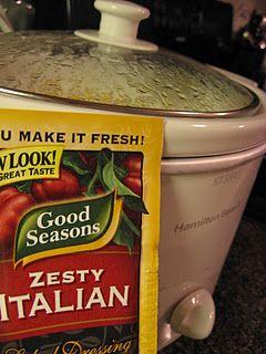 Easy crock pot recipe: chicken, italian seasoning, cream cheese, and cream of chicken soup...served over rice!  Yum!