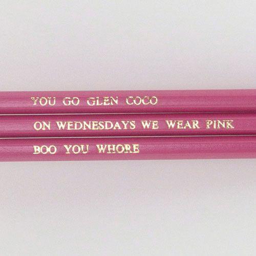 'Mean Girls' quotes (graphite pencils)