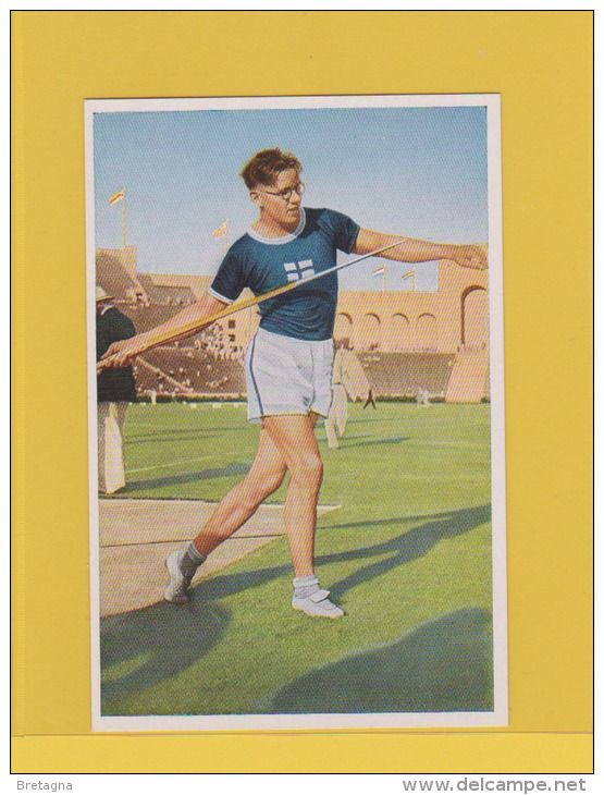 image jeux olympiques de 1932 - M. Jarvinen (Finlande) a jeté la lance à 72,71 mètres et a remporté d´or