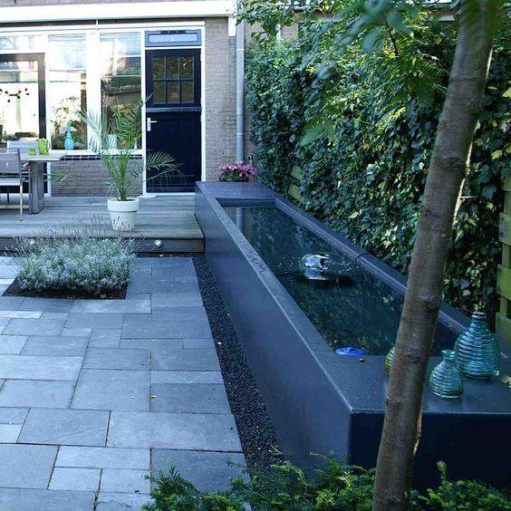 Tuin kleine tuinen and tuinen on pinterest - Aanleg van groenvoorzieningen idee ...