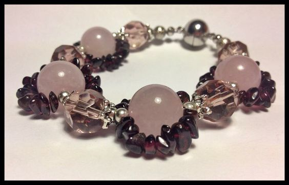 Edelsteine Armband Granat Quarz Bracelet Jewelry
