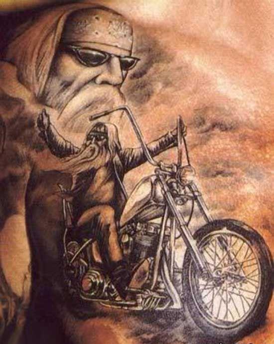 Biker pin up girls tattoos 50 motorcycle biker tattoos for Biker chick tattoos