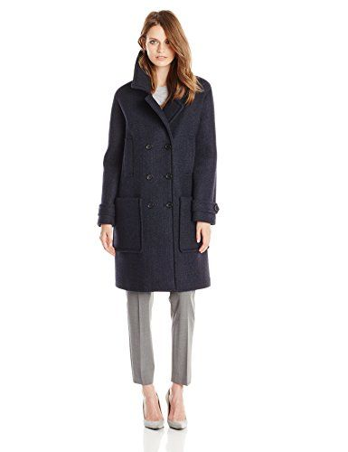 Tommy Hilfiger Women's Wool Neoprene Fashion Coat Navy - http