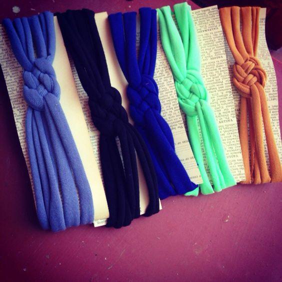 Jersey knit knot headbands //Facebook.com/pennyandjackco